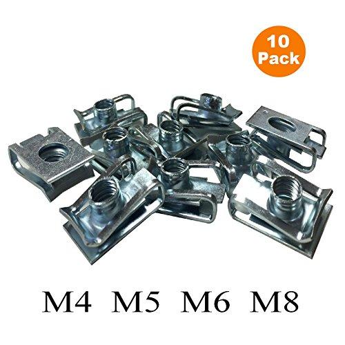 10 x M4 U Verkleidungs Karosserieblech Clips, Motorrad / Fahrrad-U-Nuss-Speed Fasteners