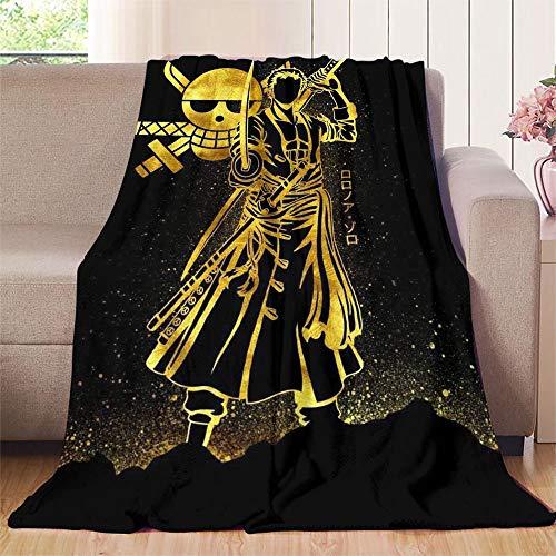 XavieraDoherty Einteilige Anime Roronoa Zoro Outdoor-Decke 150 x 160 cm (B x L), angenehm weiches Material, für guten Schlaf.