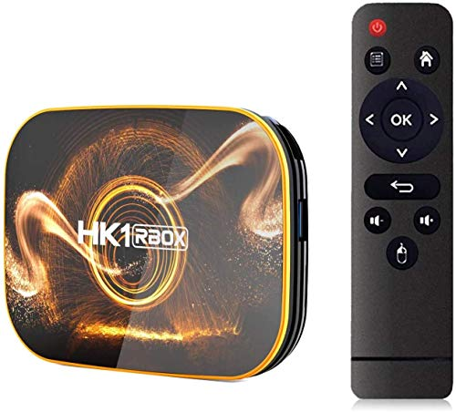 Android TV Box 10.0【4GB RAM 32GB ROM】 HK1 Ultra HD 4K Smart TV Box con Teclado RK3318 Quad Core de 64 bits con Dual-WiFi 2.4G / 5.0G / BT 4.0 / 3D / H.265 / USB 3.0 TV Box Android Media Player