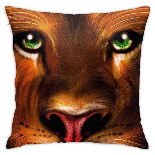 EU Throw Pillow Covers Big Cat Animals Polyester Cushion Square Cases Pillowcases Sofa Home Decor 45cm x 45cm