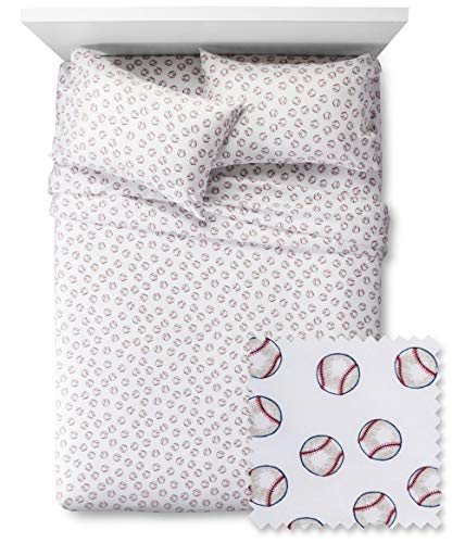 Pillowfort Baseball Twin Sheet Set