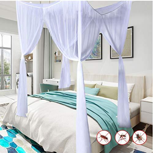 DREAMADE Moskitonetz Bett Mürkennetz, Doppeltbett Mückennetz, Kastenförmiges Moskitonetz, Bettvorhänge mit Insektenschutz und Moskitoschutz, Moskitonetz 220 x 210 x 200 cm (Weiß)