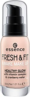 essence | Fresh & Fit Awake Make Up, Medium Coverage with Vitamin Complex and Cranberry Water | Fresh Nude & Cruelty Free