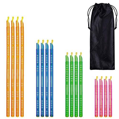 Hwjmy In Stock 8/16/20/24 piezas Magic Bag Sealer Stick Alimentos Bolsa Sellador Clip Fresh Lock Stick Hogar Cocina Almacenamiento Refrigeración Herramienta (Color: 16 piezas)