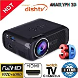 Myra® TouYinGer X7 Led Projector 1800 Lumens, 800*600 HDMI USB VGA TV Home