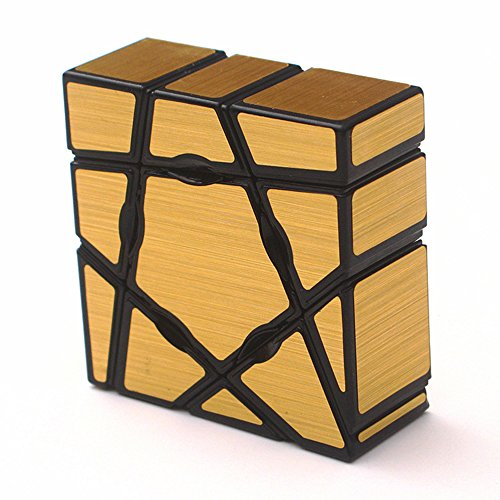 Wings of wind - Ghost Cube 1X3X3 Cubo mágico, Velocidad y Rompecabezas Liso Magic Cube (Dorado)