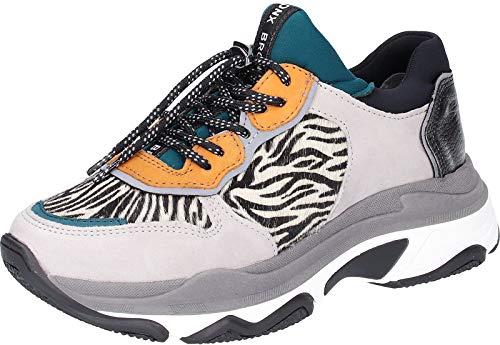 Bronx Mujer Light Gris/Zebra Baisley Chunky Zapatillas-UK 7