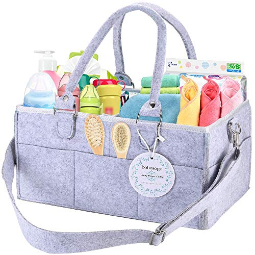 Baby Diaper Caddy Organizer Nursery Changing Storage Car Bag Diapers Wipes Portable for Baby Girls & Boys Shower Bath Basket Gift Bins Tote