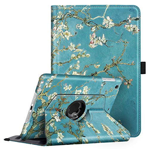 Fintie Rotating Case for iPad Mini 3/2 / 1-360 Degree Rotating Smart Stand Protective Cover with Auto Sleep/Wake for iPad Mini 1 / iPad Mini 2 / iPad Mini 3, Irises