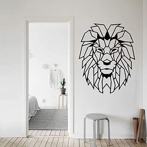 Objeto cabeza de león animal etiqueta de la pared vinilo etiqueta de la pared habitación del bebé niño sala de juegos dormitorio sala de juegos
