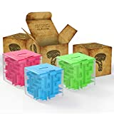 ThinkMax Money Maze, Puzzle Box Money Saving Cube Toys, 3D Puzzle Box para niños y Adultos (Verde&Azul&Rosa)