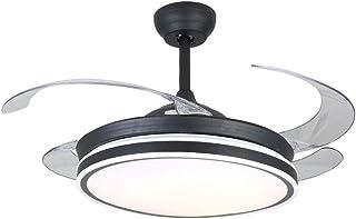 42 pulgadas de ventiladores de techo con luz 4 retráctil cuchillas ventilador de techo LED 3 cambio de Color 3 velocidades lámpara con control remoto control de