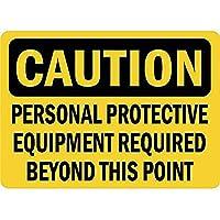 注意必要な個人用保護具 金属板ブリキ看板警告サイン注意サイン表示パネル情報サイン金属安全サイン