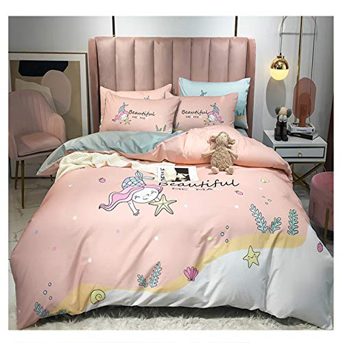 XiXiShangMao Osaka Home Four-Piece Four-Piece Cotton Quilt Cover, Bed Linen And Four-Piece Set 1.5x2 Meter Bed Sheet Type