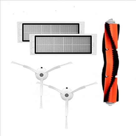 EnjoyULife Accesorios para Robot Barrido, 5 Juegos, 1 Cepillo para Polvo Principal + 2 cepillos Laterales + 2 filtros para barredora de Piedra y mijo