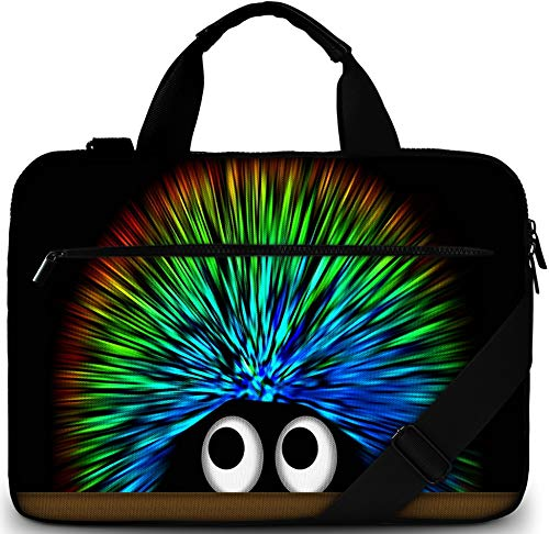 Sidorenko Laptoptasche 17/17,3 Zoll - Moderne Notebooktasche aus Canvas - Hochwertige Laptop Tasche - Schmutz- & Wasserabweisende Laptop Bag mit Zubehörfach