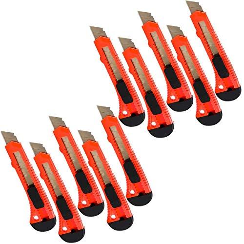 Alaskaprint 10X Stück Cuttermesser 18mm klinge Cutter Messer Teppichmesser auch zum Basteln