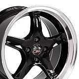 OE Wheels LLC 17 inch Rim Fits Ford Mustang Cobra R Wheel FR04A 17x8 Black Wheel