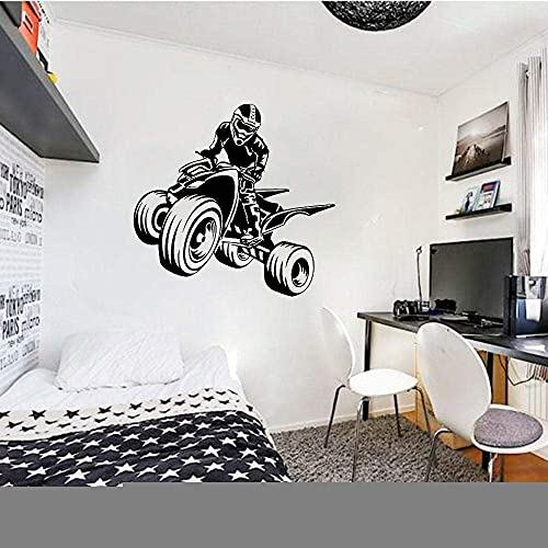 Pegatinas De Pared Quad Bike Wall Decal Sport Atv Garage Man Cave Decor Vinilo Pegatinas De Pared Kids Boy Dormitorio Sala De Juegos Cool Mural Decals S708 42X44Cm