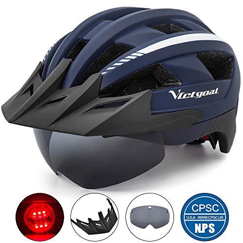 VICTGOAL Bike Helmet for Men Women with Led Light...