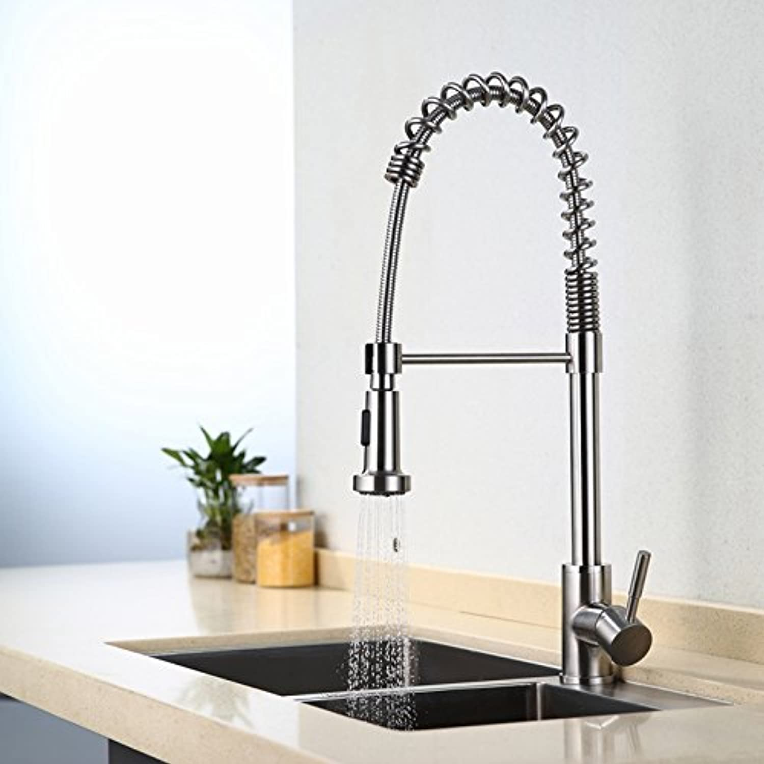 Retro Deluxe Faucetinging DistinguishedCeramic Chrome Polished Kitchen Faucet Deck Mounted Pull Down Single Hole Hot Cold Water Mixer Fine Kitchen Faucet