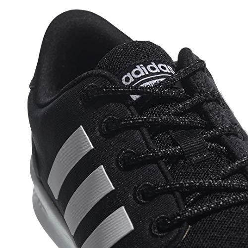 adidas Women's Cloudfoam QT Racer Sneaker, Black/White/Carbon, 9 M US 2