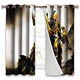 SSKJTC Thermal Insulated Blackout Curtains for Bedroom Transformers Movies Bumblebee Frontal View Thermal Insulated W42xL45 Inch