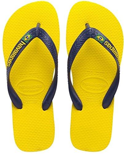 Havaianas Unisex-Kinder Brasil Logo Zehentrenner, Gelb (Citrus Yellow), 27/28 EU