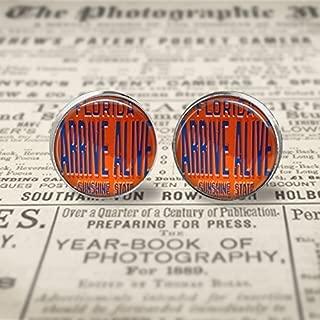 Vintage Arrive Alive Stud Earrings- Silver