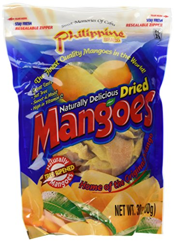 Phillippine Brand Naturally Delicious Dried Mangoes Tree Ripened Value Bag 30 Ounces