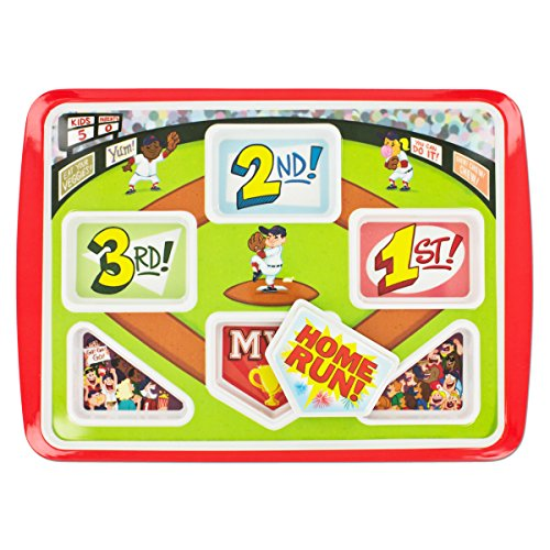 Fun Kids Dinner Plate Home Run Baseball Themed   Your Kids Will Eat Better   Be A Winner & Hit A Home Run At Breakfast Lunch & Dinner. Promotes Healthy Eating!