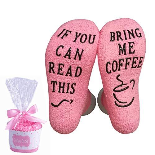 BJ-SHOP If You Can Read This Bring Me Coffee Socken,Socken Lustige Unisex Damen Mann Socken Neuheit Baumwolle Crew Socken