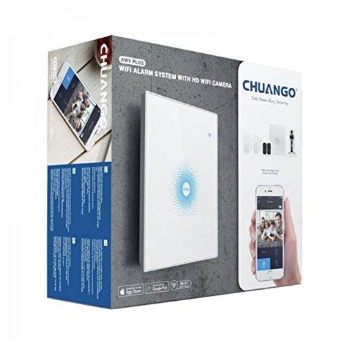 Sistema de Alarma y Smart Home WiFi - Panel WiFi con batería de Respaldo - 1 cámara IP WiFi 720p - 2 contactos magnéticos Puerta/Ventana - 1 Mando Control Remoto - Envío de notificaciones Push