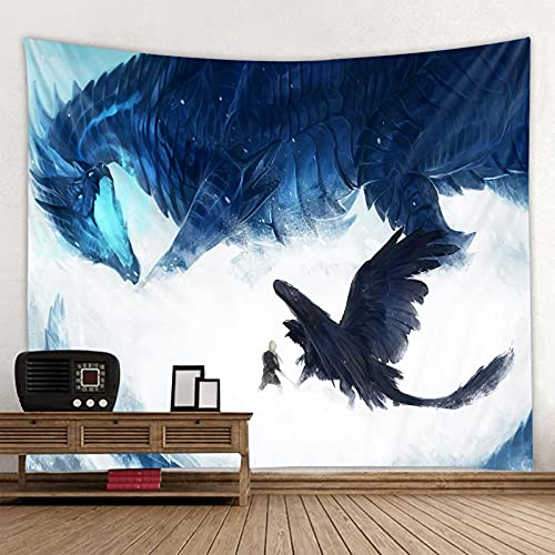 shuimanjinshan Evil Dragon Tapisserie Wandbehang Multifunktionale Tapisserie Boho Bedruckte Tagesdecke Cover Yoga Mat Decke Picknick Stoff 180X230Cm