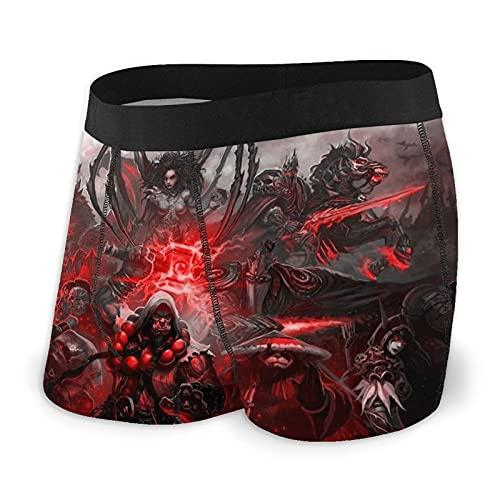 World Warcraft Game - Calzoncillos bóxer para hombre (talla S-XXL), diseño de ropa interior, tela elástica, cinturón cómodo y transpirable