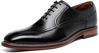 Chaussure Homme Cuir Derby Mariage Dressing Oxford Business Chaussures de Ville à Lacets Brogue Noir, Marron 38-43