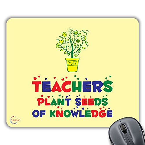 CP308 Leraren Plant Zaden van Kennis Nieuwigheid Gift Gedrukt PC Laptop Computer Mouse Mat Pad