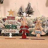 VijTIAN - Mini árbol de Navidad de Madera para decoración de Fiestas de Navidad, decoración navideña, artesanía, Resistente al Desgaste