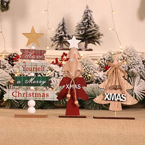 dise/ño de Bola Juego de 10 Etiquetas de Madera para Colgar en Navidad Healifty