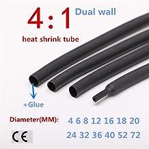 Tubo termoretráctil, 1 Metro con el Pegamento Adhesivo de Forrado 4: 1 Tubo de Pared Doble Manga, Wrap Cable de Alambre Kit de 4 mm 6 mm 8 mm 12 mm 16 mm 20 mm 24 mm 52 mm (Inside Diameter : 8MM)