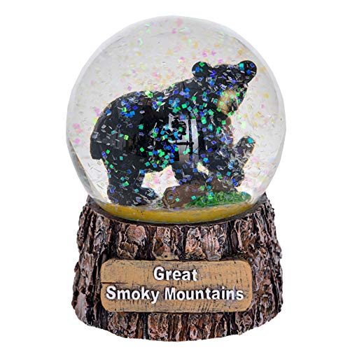 Pine Ridge Great Smoky Mountains Snow Globe - Black Bear Snow Globe Christmas Light Up Decorations - Glitter Snow Globes Collectibles for Kids - Frozen Snow Globe Decor (Medium)