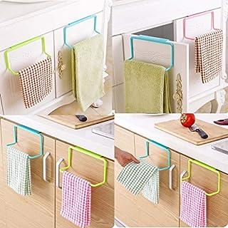 Towel Holder ,Elevin(TM) Towel Rack Hanging Holder Organizer Bathroom Kitchen Cabinet Cupboard Hanger (Pink)