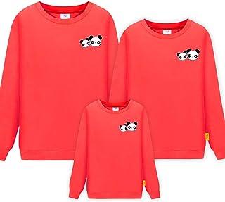 Morbuy Long Sleeve Sweatshirt, Panda Parent-Child Ladies Men Child Tops Crewneck Pullover Hoodie Without Hood Clothes