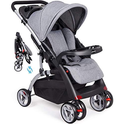 Los cochecitos plegables para los niños pequeños, los buggies de bebé con el asiento de vapor de la cesta, con la sombra del sol, el cochecito de bebé es adecuado para recién nacidos