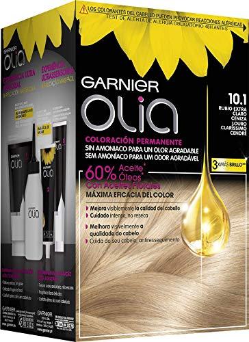 Garnier Olia - Coloración Permanente sin Amoniaco, con Aceites Florales de Origen Natural - Tono 10.1 Rubio Extra Claro Ceniza