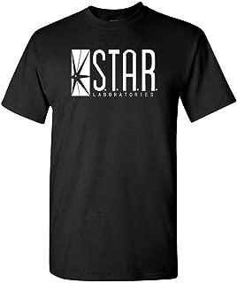 STAR LABS Adult DT - Mens Cotton T-Shirt, L, Black