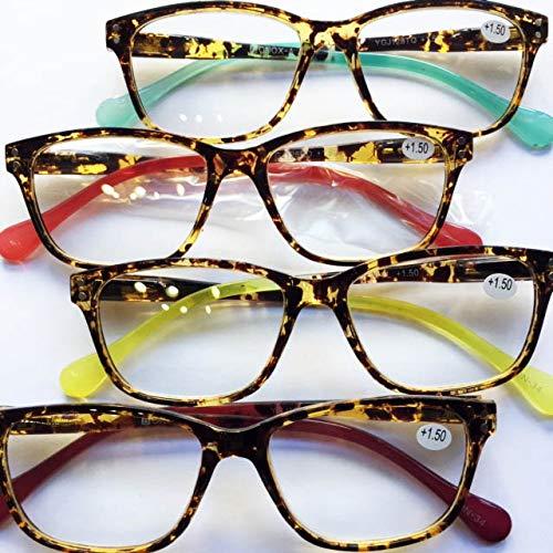 YGFJ128 老眼鏡 福祉 介護 ルーペ Reading Glasses シニアグラス ダルトン BONOX 男女兼用 敬老の日 プレゼント 母の日 (Turquoise, 1.5)