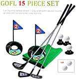 SOWOFA Jeu de Golf Jouet Golf Set Practice Golf Ball Set avec Chariot pour Les 1 à 3 Ans