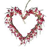 Viesky Guirnalda de 20 luces LED con forma de corazón de San Valentín,...
