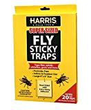 Harris Super Sized Hanging Fly Traps with Double Sided Sticky Surface, 20 Pack